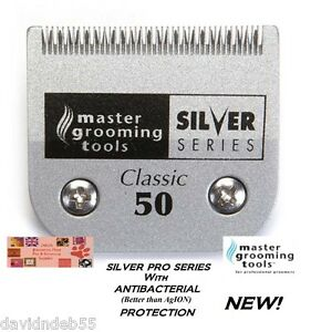 ANTIMICROBIAL A5 SILVER Pet Grooming 50 BLADE*Fit MOST Andis,Oster,Wahl Clipper