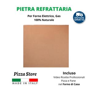 PIETRA REFRATTARIA PER FORNO 100% NATURALE PIZZA PANE + VIDEO RICETTE FORNO CASA