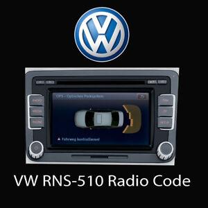 VW Stereo SAFE PIN Code Unlock Service for RNS 310 315 Navigation /& Radio