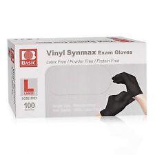 Disposable Medical Black Vinyl Exam Gloves Industrial Gloves 100pcs 8003 Large