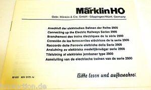 manuel-MARKLIN-CONNEXION-Le-ELECTRIQUE-TRAINS-2900-68-605-MN-0173-RU-A