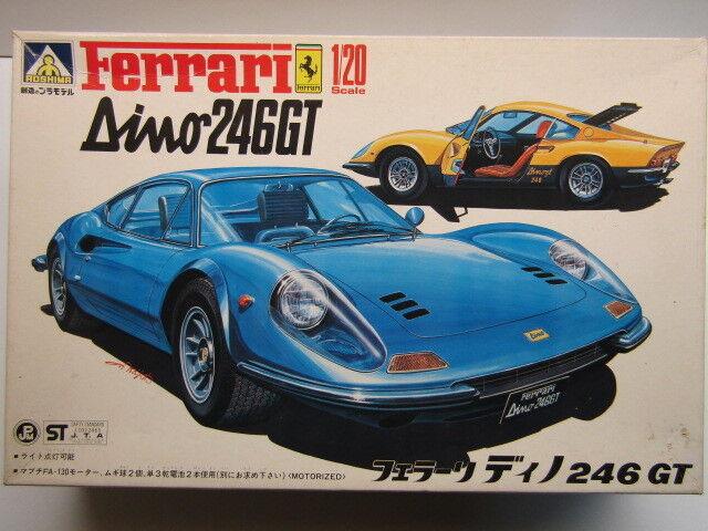 Aoshima Vintage 1 20 Scale Ferrari Dino 246GT - New & Rare - Kit SC-06-1200