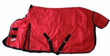 600D Winter Horse Blanket Turnout Medium Weight Water Proof Rip Stop Red Size 76