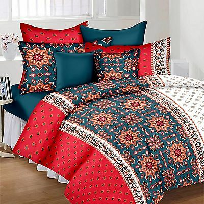 SHC 100% Cotton Double Bedsheet  With Two Pillow Covers