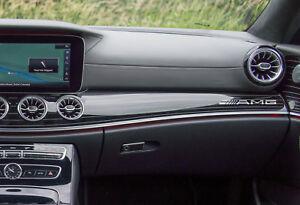 AMG-Mercedes-Benz-Aufkleber-fuer-Armaturenbrett-SPIEGEL-CHROMEFFEKT-FOLIE