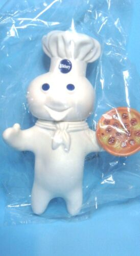 "FREE SHIP! NIP Pillsbury Doughboy Poppin Fresh Pizza Promotional 7/"" Vinyl Doll"