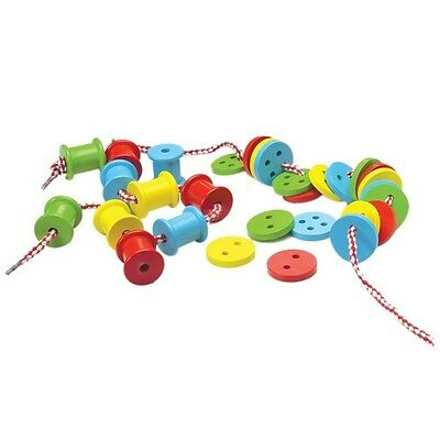 32 pc Threading Buttons & Spools Lacing Activity Fine Motor Occupational Therapy
