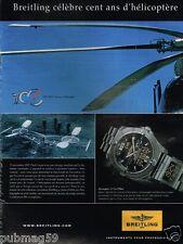 Publicité advertising 2007 La Montre Breitling Aerospace & Co-Pilot