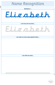 La reconnaissance du nom carton Mat Laminé Education Learning Writing