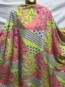 *NEW*M//Weight Microfiber Polyester Floral Print Dress//Craft Fabric*FREE P/&P*