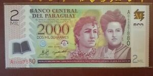 Paraguay 2000 Guaranis Polymer Note 2008 (UNC)