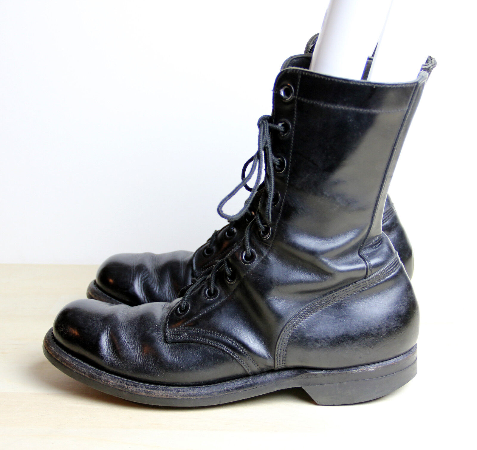 compra nuovo economico Vintage VIETNAM WAR Era stivali stivali stivali Uomo Dimensione 9 XN Narrow 1967 nero Combat Biltrite  ottima selezione e consegna rapida