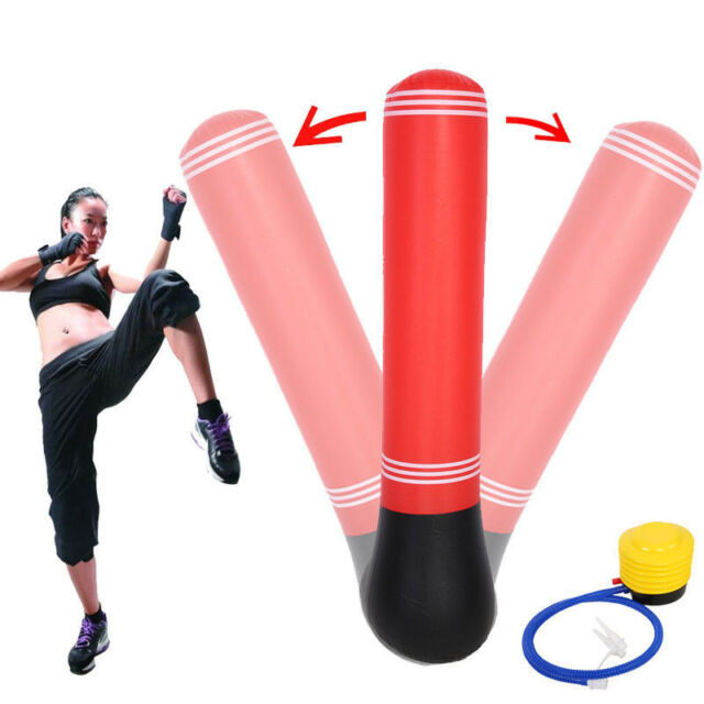Inflatable Boxing Bag Training Exercise Base Punching Stand Fitness Equipment