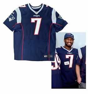 Details about Jacoby Brissett New England Patriots Colts Worn NFL Nike Jersey Like Game Worn