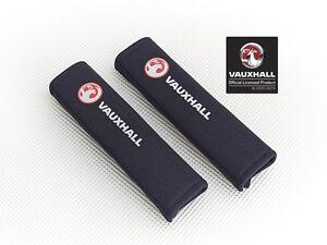 Richbrook-039-Licensed-039-Vauxhall-Seat-Belt-Shoulder-Pads-BLACK-Padded-Harness