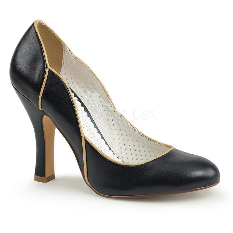 Pin UP COUTURE Smitten - 04 Pump Nero Classico Elegante B ¸ RO scarpa da sera Gogo. | Design lussureggiante  | Uomini/Donna Scarpa