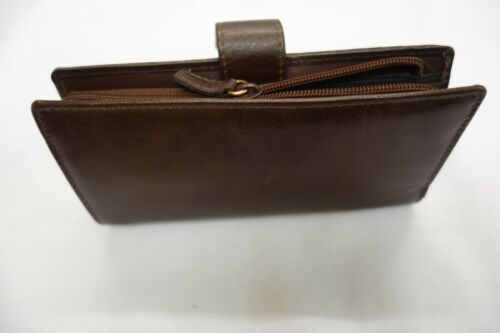 Ladies Leather Purse Wallet Organiser Large TAN Top Brand Space for 16 Cards