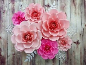 Image Is Loading Paper Flower Set Of Roses For Birthday Decorations