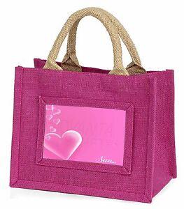 Pink Hearts Sentiment for 'Nan' Little Girls Small Pink Shopping Bag Bambina: accessori MUM-H4BMP Abbigliamento e accessori