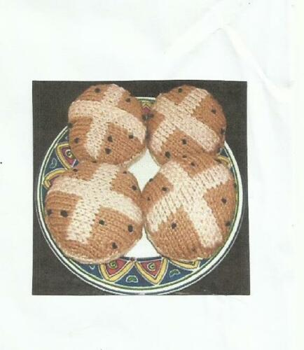 Tejer patrón para Pascua Caliente X Bollos-Doble Tejido Lana