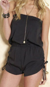 BNWT-BY-ADORE-TG-SHORT-PLAYSUIT-BLACK-SIZE-LARGE-NEW