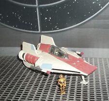 STAR WARS ACTION FLEET SERIES RED A-WING STARFIGHTER W PILOT & C-3PO MINI FIGS
