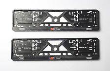 S LINE LOGO AUDI LICENSE PLATE PLATES FRAME EURO for S3 S4 S6 S5 S6 HOLDERS