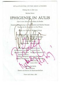 3 Autogramme Rosemarie Lang, Magdalena Hajossyova & Peter Schreier 1993 Berlin