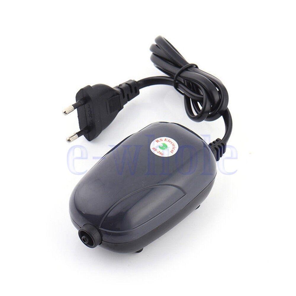 3W Efficient Aquarium Sauerstoff Fisch Luftpumpe Behälter Silent EU Plug GE