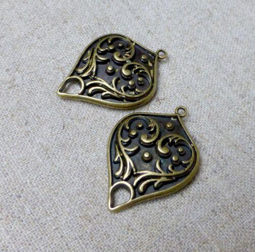 Antique bronze pendentif ou boucle d/'oreille connecteur-pack de 10