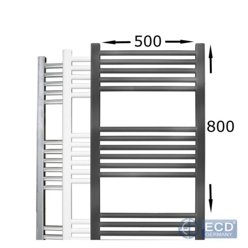 Bathroom heater towel rail central heating select size colour straight or curved