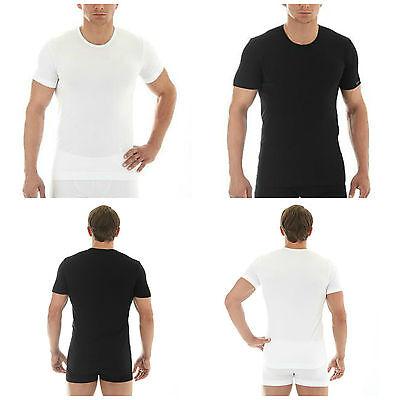 Men/'s Seamless Seamfree Long Sleeve Tee Vest Comfort Cotton Baselayer Brubeck