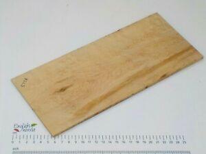 Curly or Silky Maple wood board. 124 x 295 x 4-6mm. Birdseye, burr, pippy. 3738