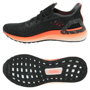 Black Orange adidas Womens Ultra Boost PB Running Shoes Trainers Sneakers