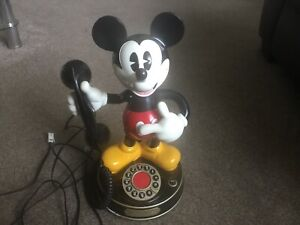 1997-Telemania-Mickey-Mouse-World-039-s-First-Animated-Talking-Telephone