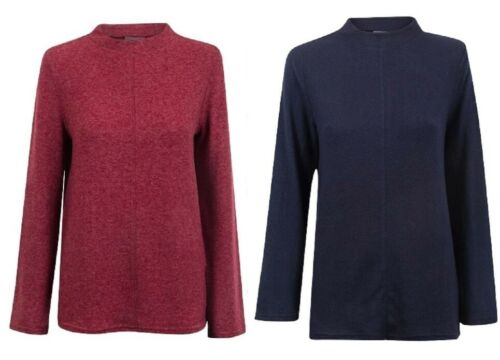 Ladies High Neck Soft Snuggly Fleece Relaxed Fit Womens Warm Jumper Sizes:8-16