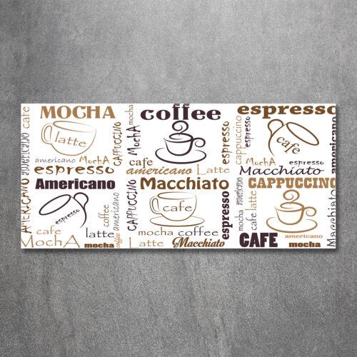 Glas-Bild Wandbilder Druck auf Glas 120x60 Deko Sprüche Zeit für Kaffee