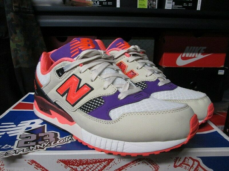 SALE NEW BALANCE 530 M530WST GREY LAVA RED PURPLE SIZE 8.5 NM530 WEST NYC