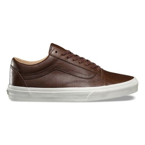 Vans Skool Entrenadores Chocolate Lux Leather Old Porcini OOwxqra5R