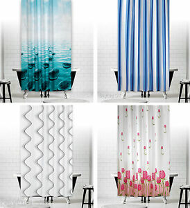 Image Is Loading Bathroom Shower Curtains Extra Long Wide Or Narrow