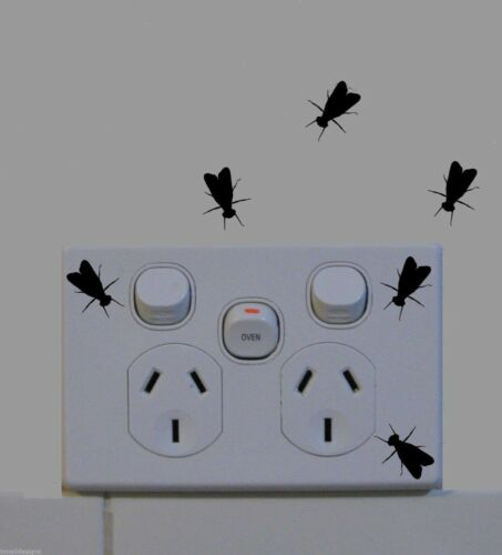Fly vinyl stickers decals fun for phone wall home bathroom decor prank