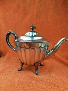 Antique Silver Plate Sheffield Teapot - Art Deco  C1920