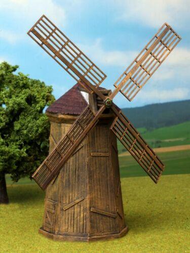 New Ziterdes 25//28 mm Unpainted Hard Foam Terrain Windmill with Wind Wheel