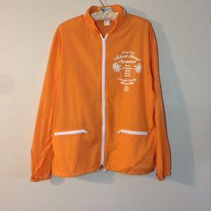 Stussy-Squad-Orange-Streetwear-Lightweight-Windbreaker-Hooded-Zip-Up-Jacket-Sz-L