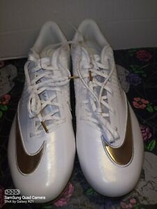 New-Mens-NIKE-LUNAR-VAPOR-ULTRAFLY-ELITE-2-Metal-Baseball-Cleats-WHITE-GOLD