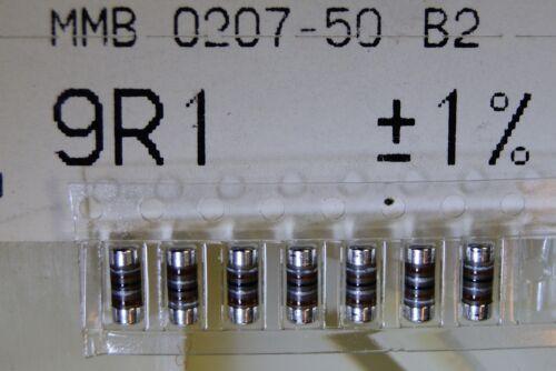 200pcs resistor 9.1 ohm 1W 1/% melf 300V 50ppm smd MMB0207-50-B2 9R1  BEYSCHLAG
