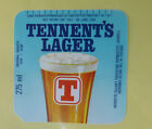 VINTAGE BRITISH BEER LABEL - TENNENT BREWERY, BLUE LAGER 275 ML