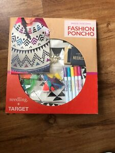 Seedling Target Design Your Own Fashion Poncho Kid S Craft Kit Age 8 812081023942 Ebay