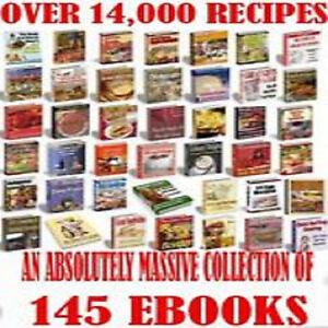 * ULTIMATE 14,000+ COOKBOOK RECIPES * COOKING FOOD EBOOKS TXT/PDF on CD *