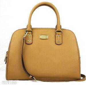 316ac38987790 Michael Kors JET SET Acorn Saffiano Leather Large Satchel Cross Body ...